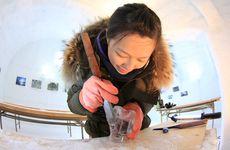 北海道河東群鹿追町|氷彫刻|氷のグラス作りコース(カフェ村)