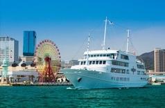 神戸の町並み、造船所、和田岬、神戸空港、須磨アルプスの山々、明石海峡大橋、淡路島など大阪湾を一望できるティークルーズが楽しめるコースです。